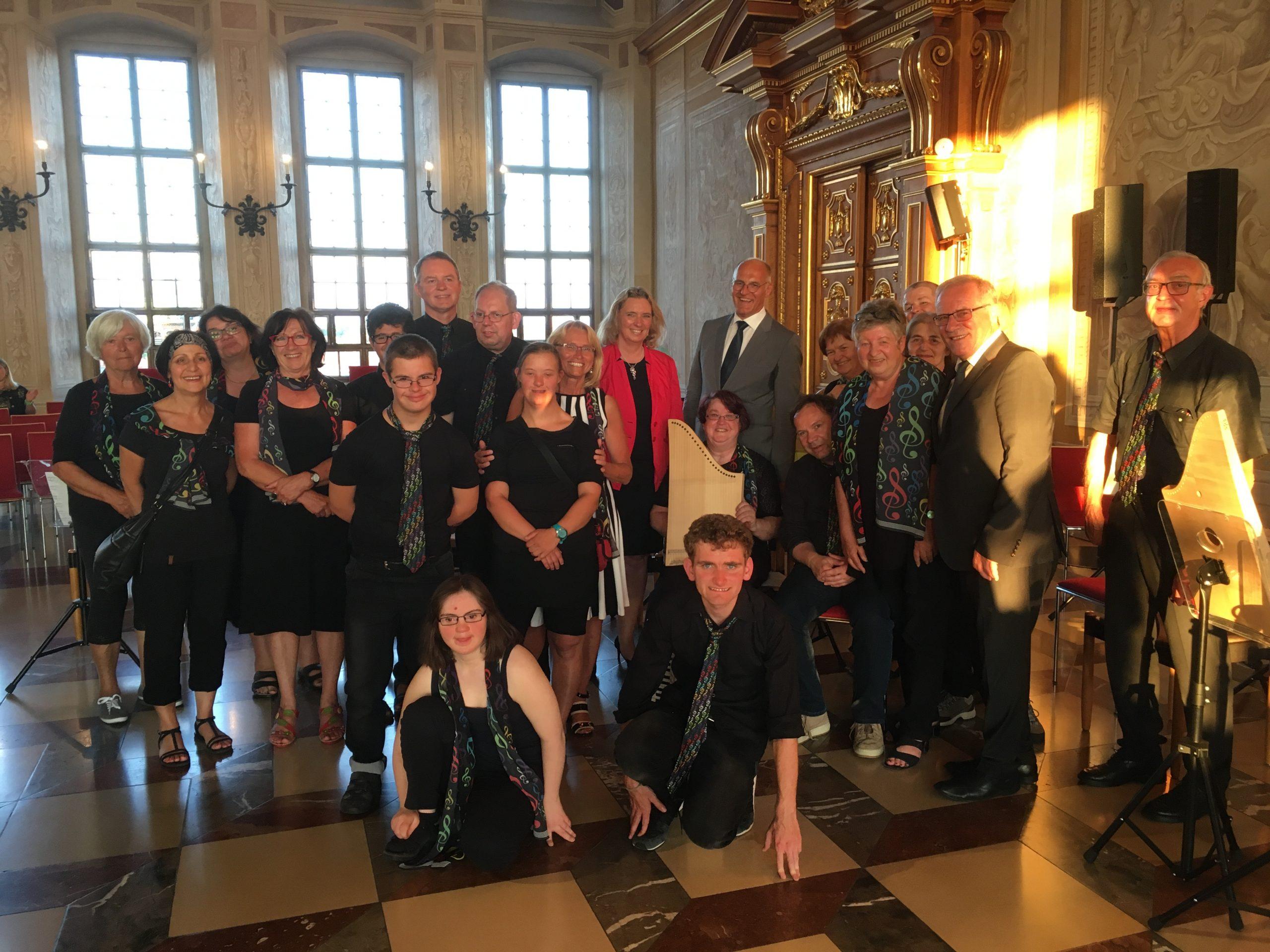 Die Bunten im Goldenen Saal in Augsburg
